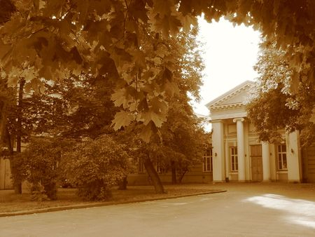 squire: Old part of Moscow in sepia tonning