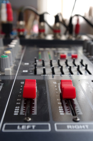 Audio Mixing Console  left or right adjustment selective focus