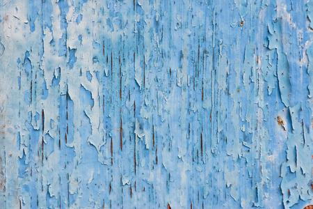 disintegration: Texture of disintegration blue paint on wood