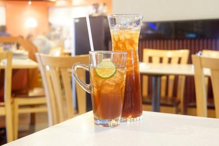 Lemon tea in restaurants