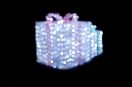 Blurred wihte twinkle  gift box
