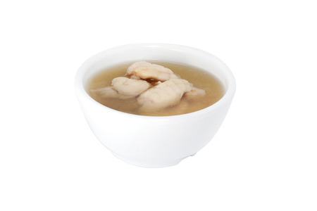 fish broth isolated on white
