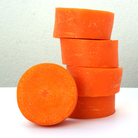 stack carrot slices