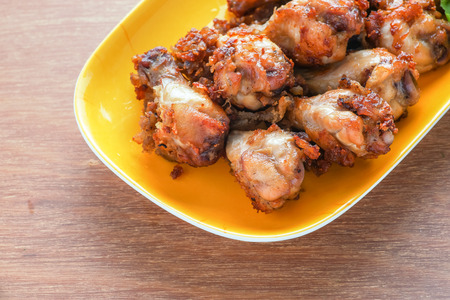 Fried Chicken on yellow plate