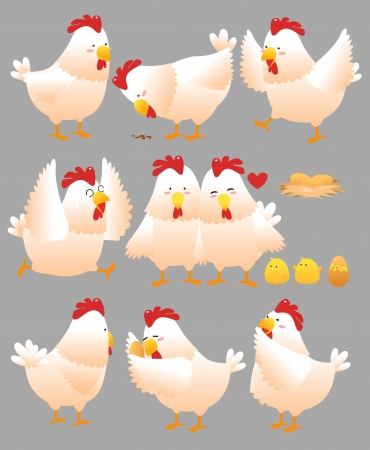 Funny Chicken cartoon collection 2 Illustration