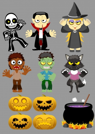 Halloween Character set 1 Stock Vector - 14974261