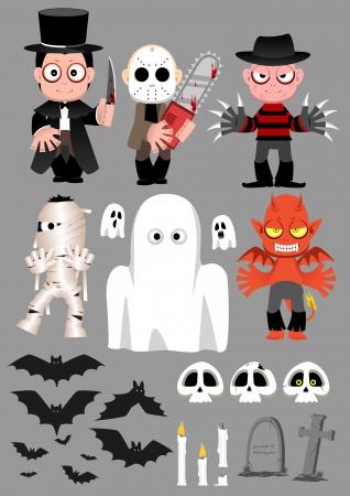 Halloween Character set 2 Vector
