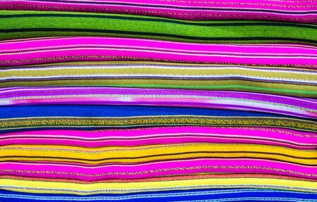 Close up Thai sarong pattern for a background. Stock Photo