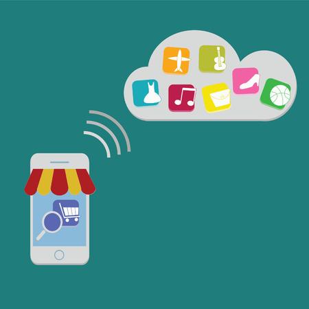 E-commerce on SmartPhone Vector