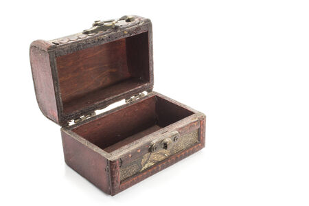wooden box isolated white background photo