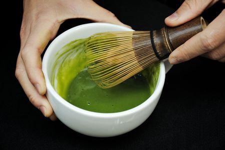 matcha: Mix and match-a Stock Photo