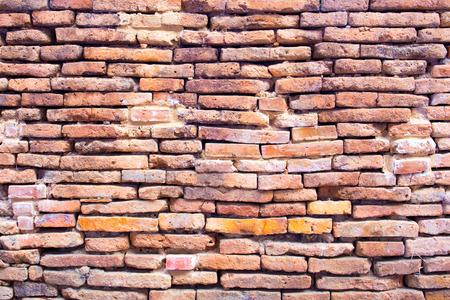 paredes de ladrillos: La textura de la antigua f�brica de ladrillo. Foto de archivo
