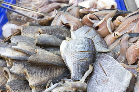 dry fish: Close up dry fish in Thailand market