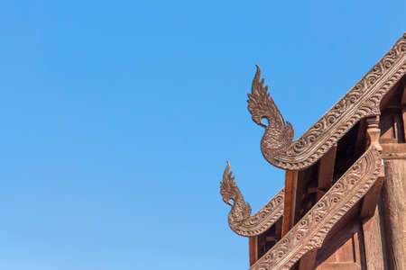 gable: Gable and roof temple made form wood, Thailand