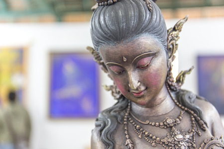 Thai art Kinnaree : The mythical half bird half woman photo