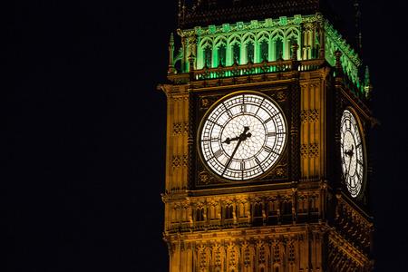 bigben: The Bigben clock tower at night.