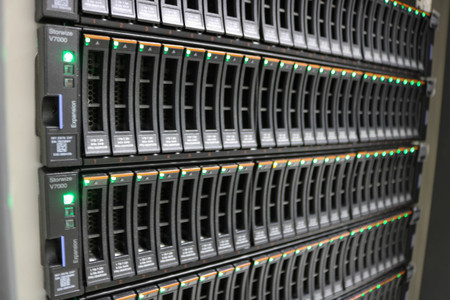 Saver technology center To save data CCTV system Stock Photo