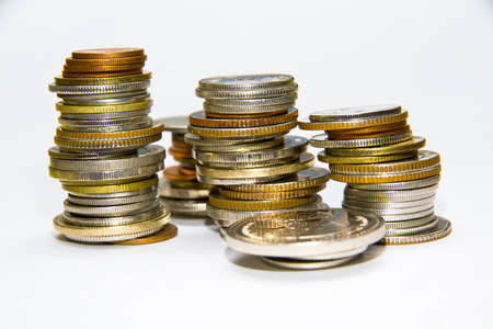 quid: Stack of various coins