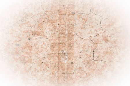 huellas de neumaticos: Pistas del neum�tico en la tierra Foto de archivo