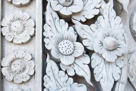 stucco: Thai stucco art on wall Stock Photo