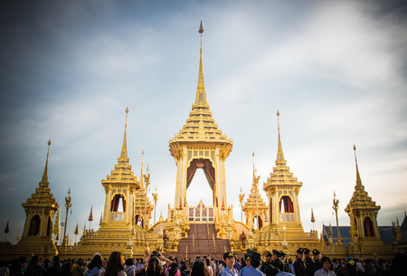 The Royal Cremation Ceremony of His Majesty King Bhumibol Adulyadej to open to public in Sanam Luang Bangkok, Thailand - November 28, 2017 Editorial