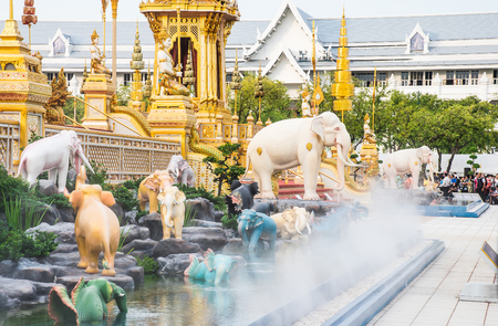 The Royal Cremation Ceremony of His Majesty King Bhumibol Adulyadej to open to public in Sanam Luang Bangkok, Thailand - November 28, 2017 新聞圖片