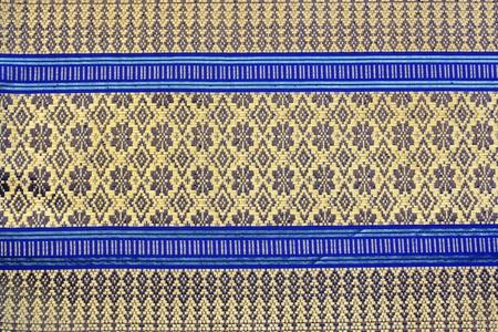thai silk: The detail of Thai fabrics unique style Stock Photo
