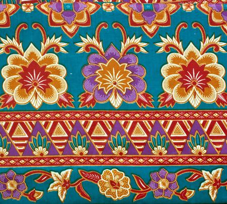 ramantic: Seamless background beautiful batik, detail of pattern fabric of cloth