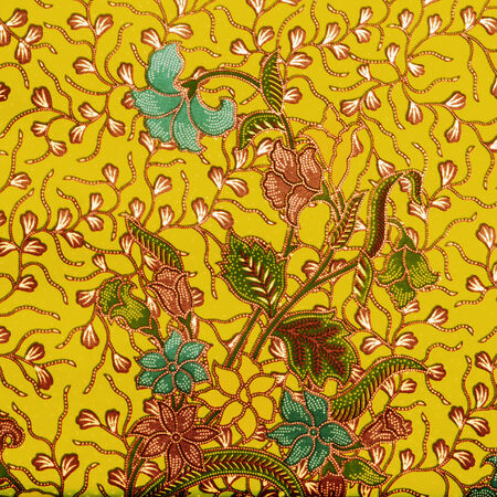 Seamless background beautiful batik, detail of pattern fabric of cloth photo