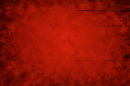 bright center: Abstract red background with bright center spotlight and vignette borders. Stock Photo