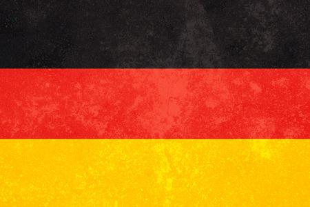 bandera alemania: Bandera de Alemania con el grunge Foto de archivo