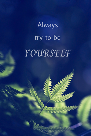 Inspirational Motivational Life Quote on Nature Background Design.