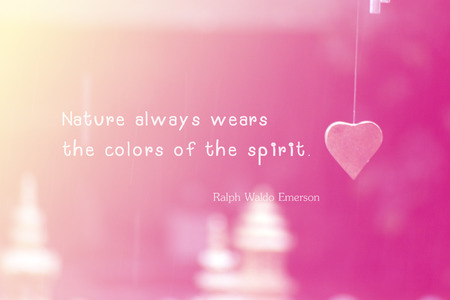 Inspirational Motivational Life Quote by Ralph Waldo Emerson on Vintage filtered Image Background Design. photo