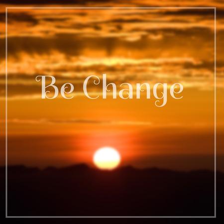 sunrise: Inspirational Motivational Life Quote on Sunrise Blurred Background Design. Stock Photo