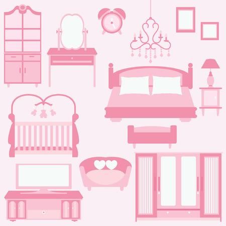 nightstands: set of furniture in bedroom