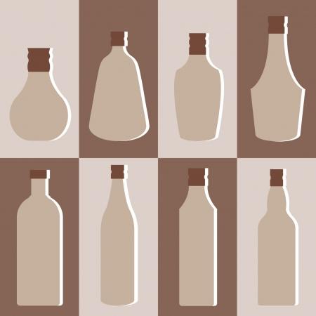 alcohol bottles: set of alcohol bottle