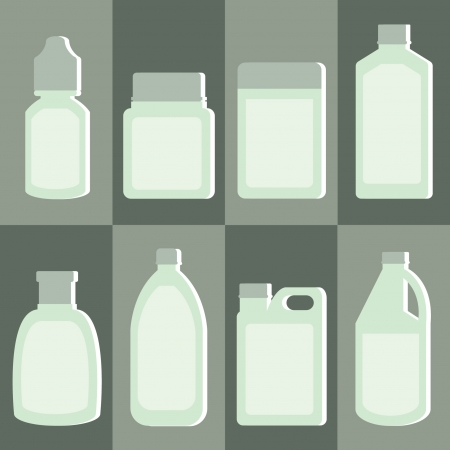 set of medicine bottle Vector