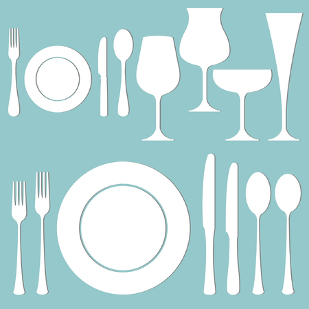 sharpen: set of formal dinner on the table