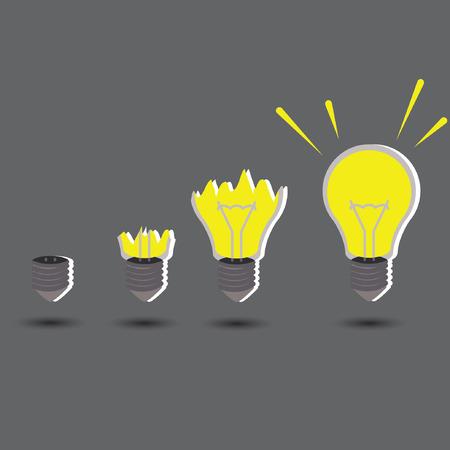 create idea:  light idea concept with create idea