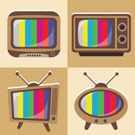 boardcast: set of old television