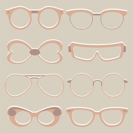 eyewear: set of cute glasses Illustration