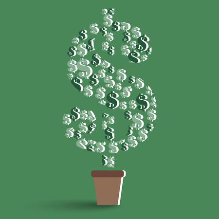 money tree concepts Vector
