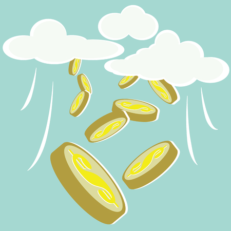 Money concepts with money from the sky Vector