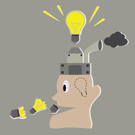 create idea: Light idea concept with person create idea