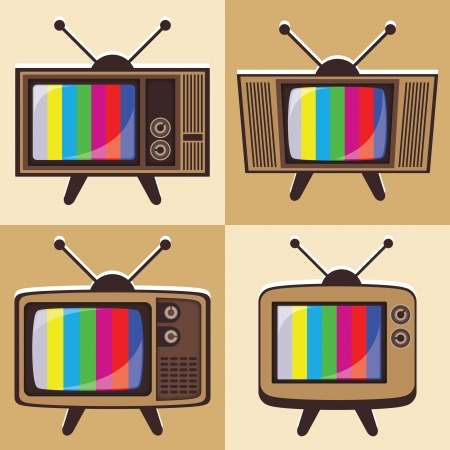 boardcast: Vector set of classic television 2