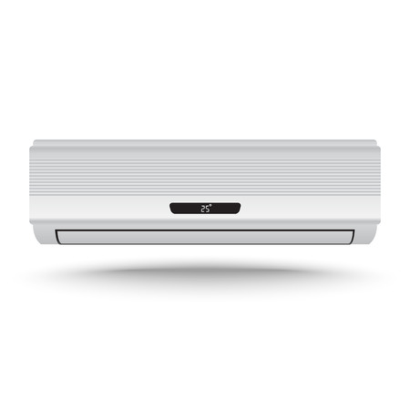 air conditioner: 3D Realistic air conditioner vector on isolated white background Illustration