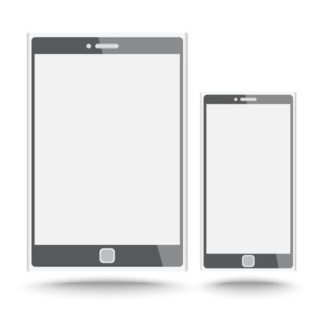 Smart phone and tablet vector on isolated white background Vector