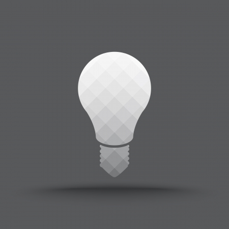 Vector of transparent light bulb icon on isolated background Vector