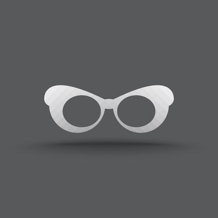 Vector of transparent glasses icon on isolated background Vector