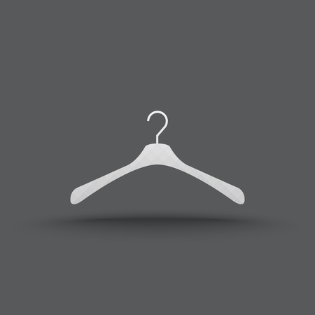 Vector of transparent hanger clothes icon on isolated background Vector